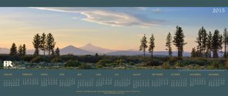 View of Mt Jefferson and Black Butte on 2015 Brooks Resources Calendar